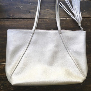 Oversized/ Large Silver Tote New
